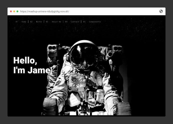 Univers - 53+ Free HTML CSS Portfolio Web Design Templates [year]