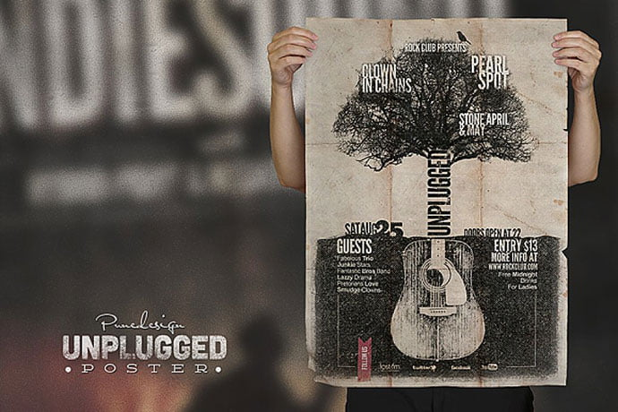 Unplugged - 48+ Lovely Flyer & Poster Design Templates [year]