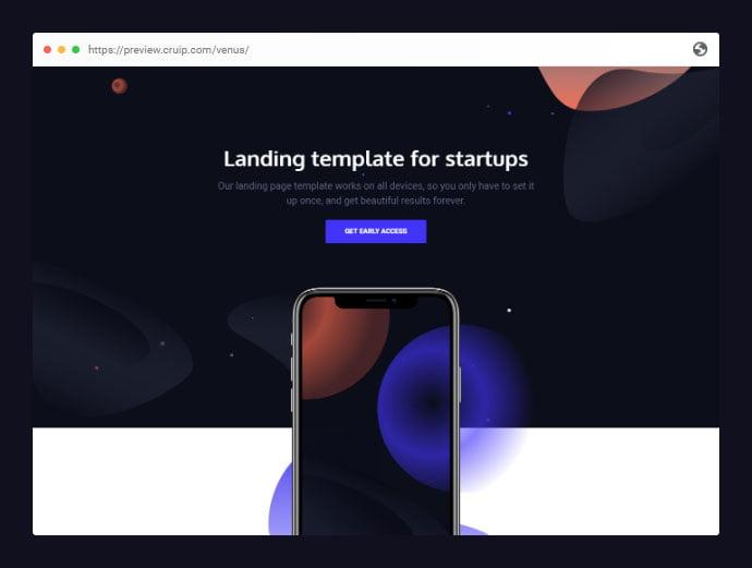 Venus - 53+ Free HTML CSS Portfolio Web Design Templates [year]