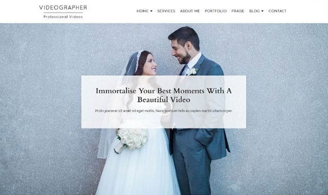 Videographer-1 - 35+ Nice Videographers & Cinematographers WordPress Themes [year]