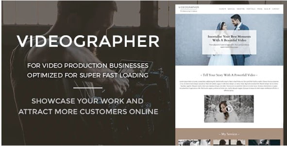 Videographer - 35+ Nice Videographers & Cinematographers WordPress Themes [year]