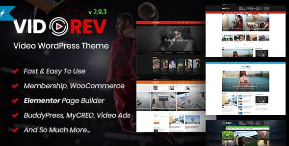 VidoRev - 35+ Nice Videographers & Cinematographers WordPress Themes [year]