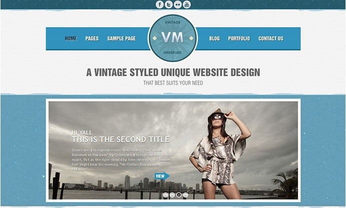 Vintage-Immersed - 32+ Impressive Retro Cool WordPress Themes [year]