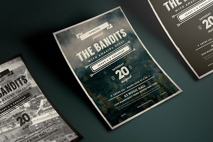 Vintage-Typography-Music-Poster - 48+ Lovely Flyer & Poster Design Templates [year]