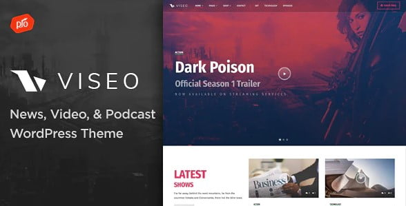 Viseo - 35+ Nice Videographers & Cinematographers WordPress Themes [year]