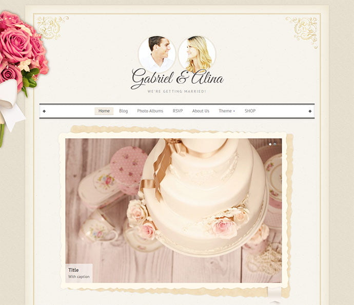 Wedding - 32+ Impressive Retro Cool WordPress Themes [year]