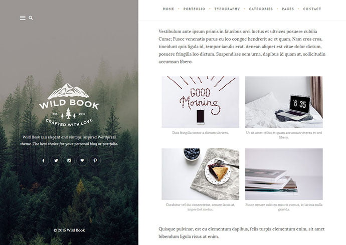 Wild-Book - 32+ Impressive Retro Cool WordPress Themes [year]