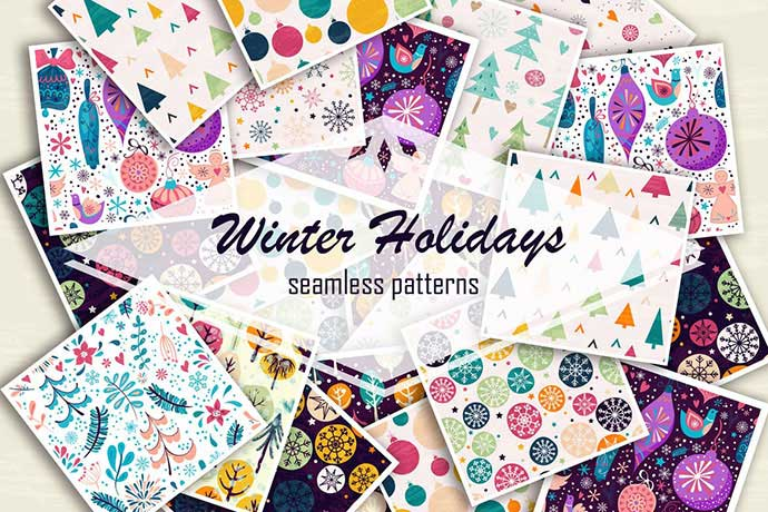 Winter-Holidays - 37+ Awesome Christmas Backgrounds, Patterns [year]