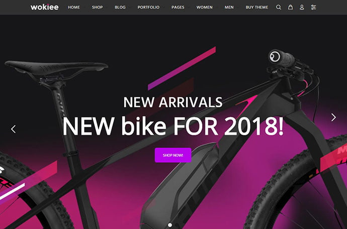 Wokiee - 29+ Best Bike Store Responsive WordPress Themes [year]