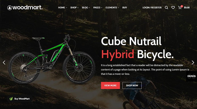 WoodMart - 29+ Best Bike Store Responsive WordPress Themes [year]