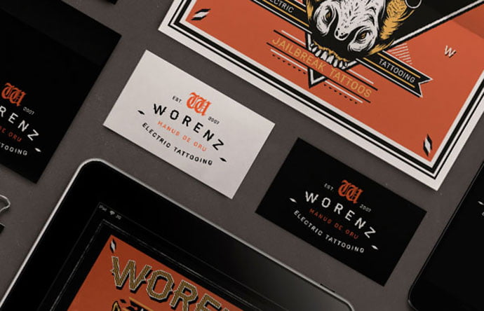 Worenz - 31+ Awesome Free Tattoo Business Card Designs 2020