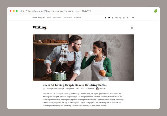 Writing - 33+ Awesome Super Fast Website WordPress Themes [year]