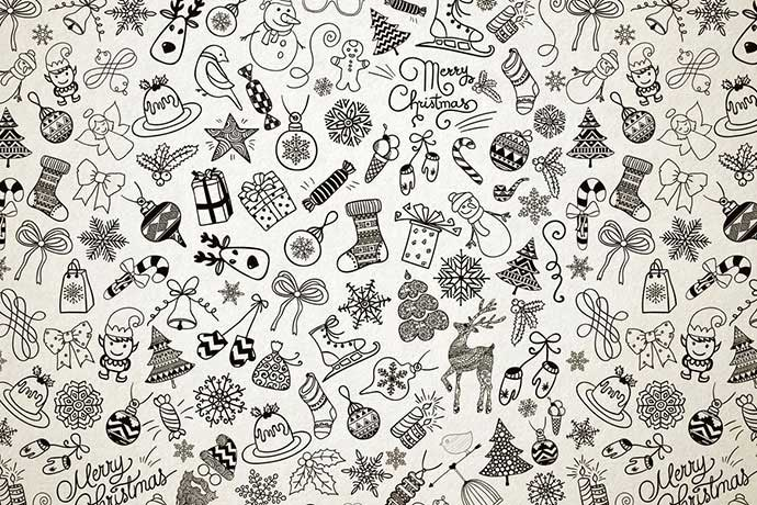 Xmas-Doodles - 37+ Awesome Christmas Backgrounds, Patterns [year]