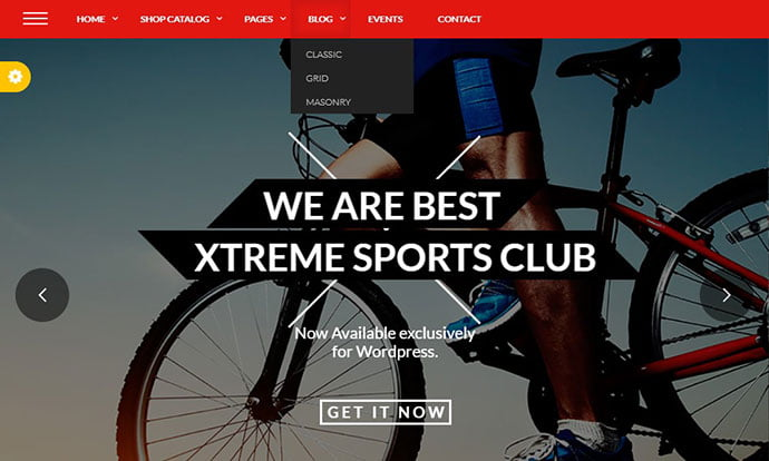 Xtreme-Sports - 29+ Best Bike Store Responsive WordPress Themes [year]