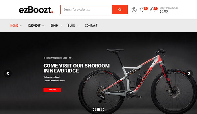 ezBoozt - 29+ Best Bike Store Responsive WordPress Themes [year]