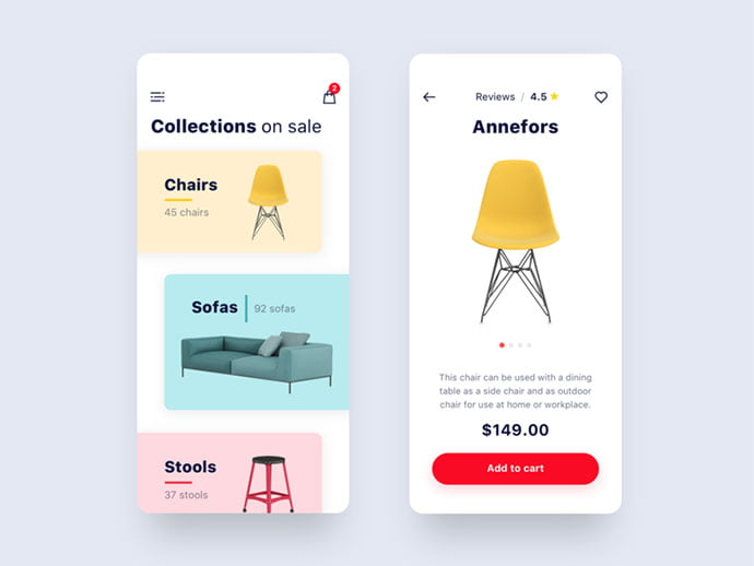 11 - 53+ Awesome Shopping Cart UI Designs [year]