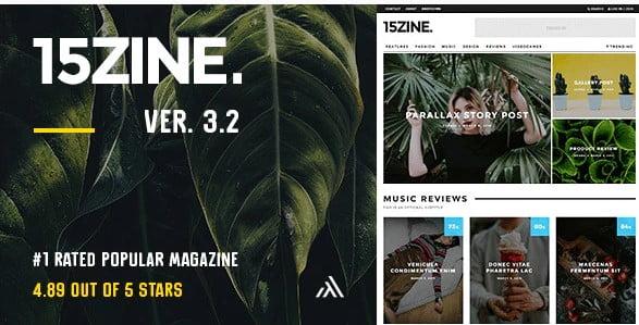 15Zine - 38+ Awesome WordPress News Templates [year]