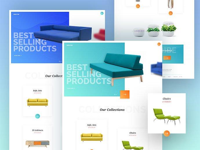 333 - 63+ Impressive Free Furniture Web UI Example [year]