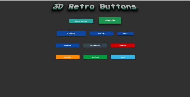 3D-Retro-Buttons - 46+ Great Free Inspiration CSS Button Example [year]