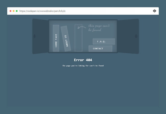 404-Page-Animation - 33+ Awesome CSS & Javascript Error 404 Page Sample [year]