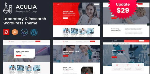 Aculia - 33+ Great Science & Technology WordPress Themes [year]