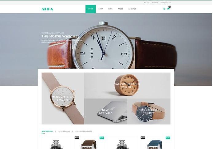 Appa - 34+ Top Online Watch Shop WordPress Themes [year]