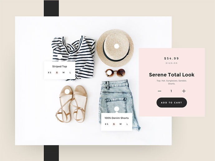 Apparel - 53+ Awesome Shopping Cart UI Designs [year]