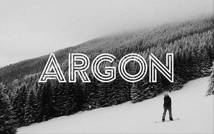Argon - 39+ Amazing Outline Fonts For Designer [year]