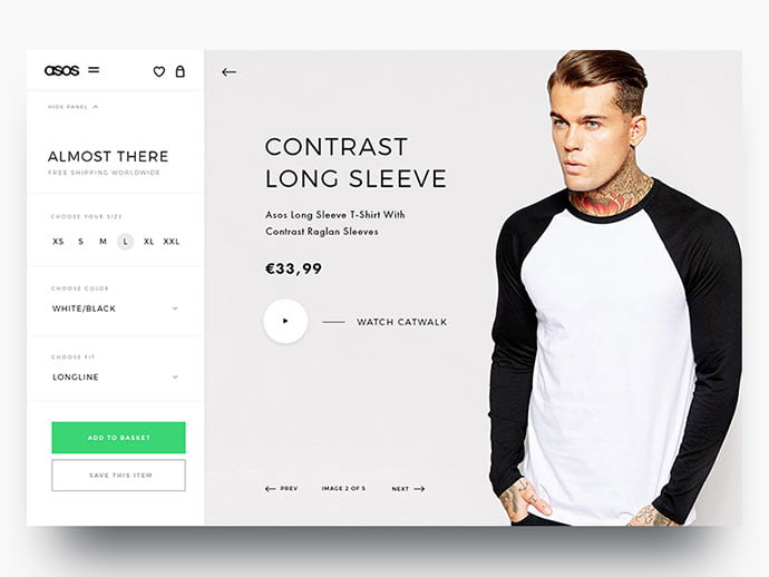 Asos-Product - 53+ Awesome Shopping Cart UI Designs [year]