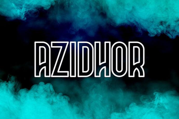 Azidhor - 39+ Amazing Outline Fonts For Designer [year]