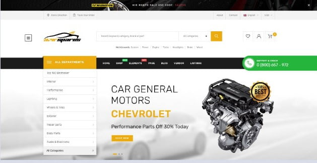 Azirspares - 28+ Automotive Accessories WordPress Themes [year]