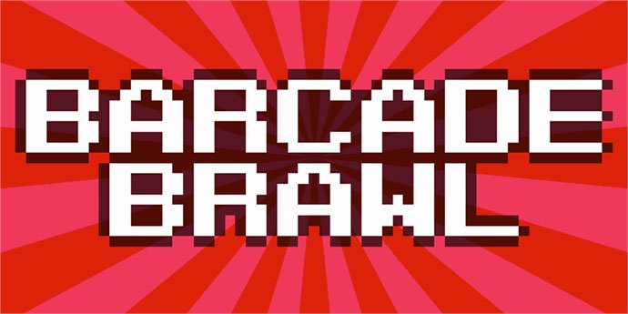 Barcade-Brawl - 33+ Lovely Free Retro Pixel & 8-Bit Style Fonts [year]