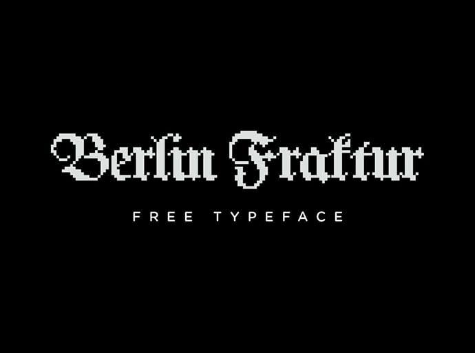 Berlin-Fraktur - 33+ Lovely Free Retro Pixel & 8-Bit Style Fonts [year]