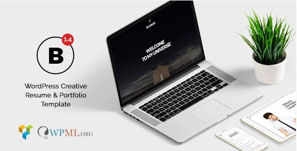 Blanco - 34+ Portfolio WordPress Themes For Resume [year]