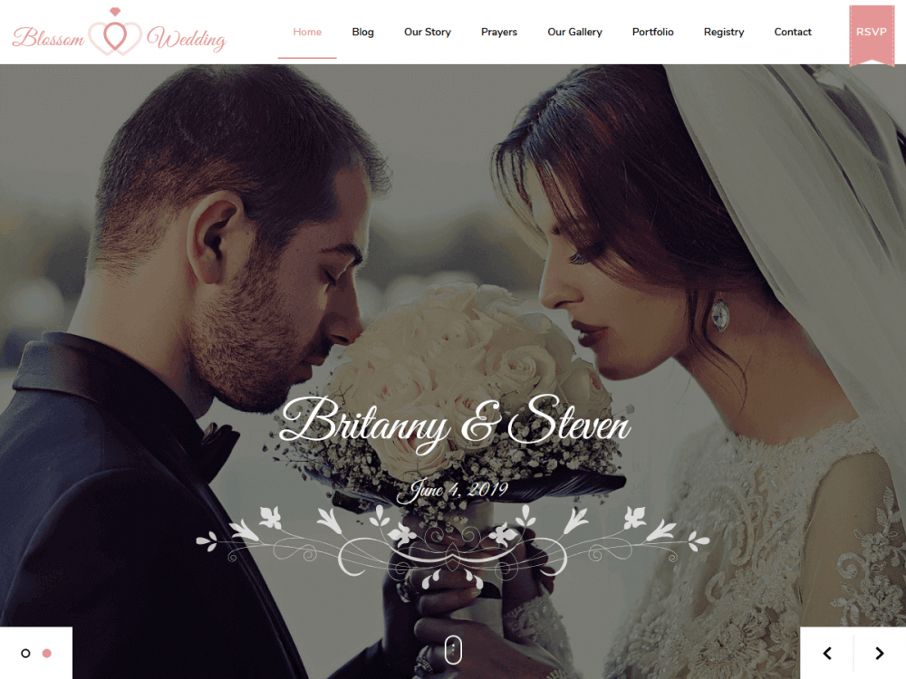 Blossom-Wedding - 35+ Free WordPress Blossom Themes and Templates [year]