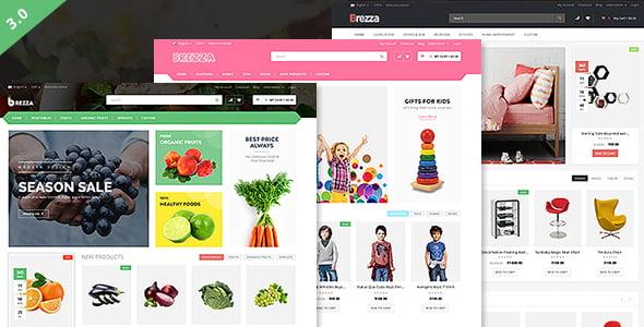 Brezza - 39+ Best Fruit & Vegetable WordPress Themes [year]