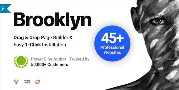 Brooklyn - 34+ Portfolio WordPress Themes For Resume [year]