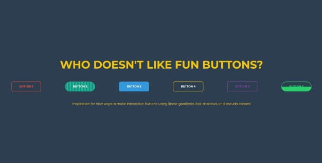 CSS-BUTTONS - 46+ Great Free Inspiration CSS Button Example [year]