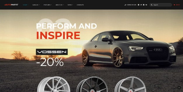 Car-Parts-Store - 28+ Automotive Accessories WordPress Themes [year]