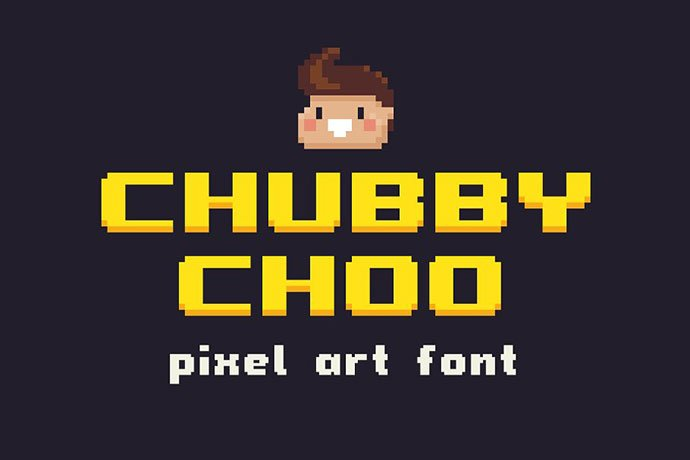 Chubby-Choo - 33+ Lovely Free Retro Pixel & 8-Bit Style Fonts [year]