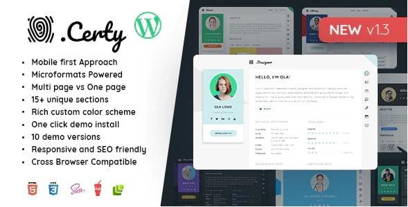 Creative - 34+ Portfolio WordPress Themes For Resume [year]
