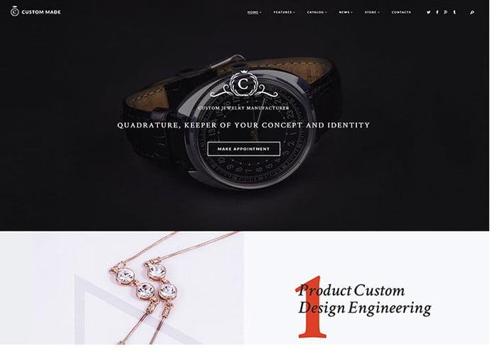 Custom-Made - 34+ Top Online Watch Shop WordPress Themes [year]