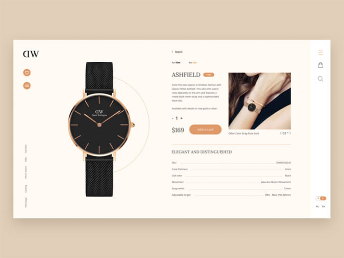 Daniel - 53+ Awesome Shopping Cart UI Designs [year]