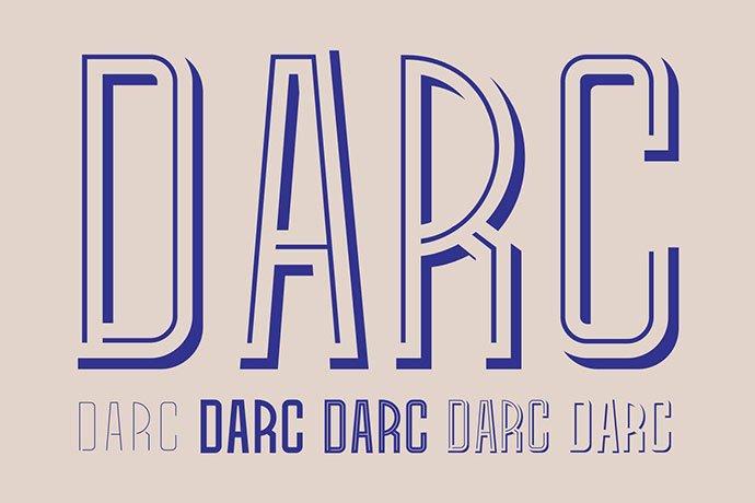 Darc - 39+ Amazing Outline Fonts For Designer [year]