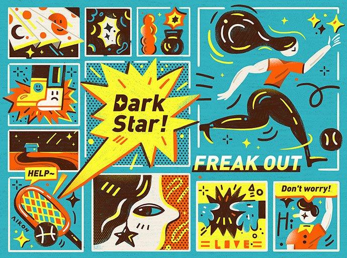 Dark-Star - 38+ Marvelous Comic Style Illustrations [year]