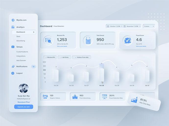 Design-Experiment - 43+ BEST FREE Neumorphism UI Design SAMPLE