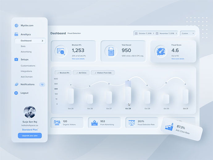 Design-Experiment - 43+ BEST FREE Neumorphism UI Design SAMPLE [year]