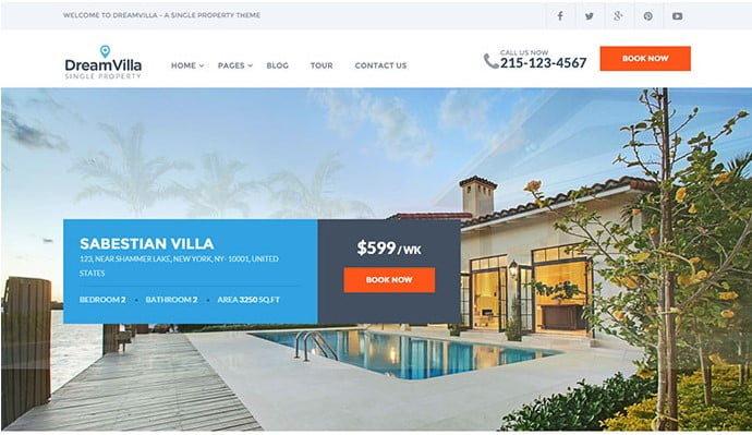 DreamVilla - 33+ Amazing Real Estate WordPress Themes [year]