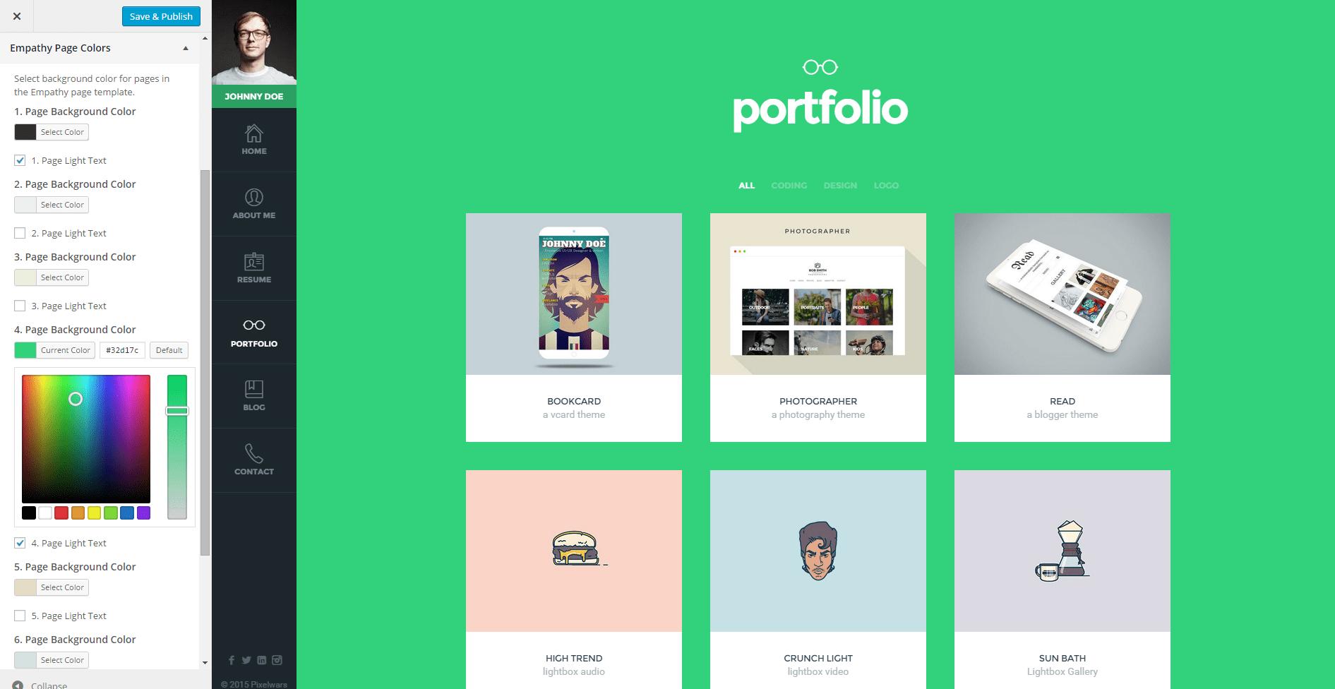 Empathy - 34+ Portfolio WordPress Themes For Resume [year]