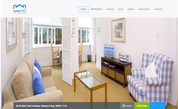 Estate-Pro - 33+ Amazing Real Estate WordPress Themes [year]